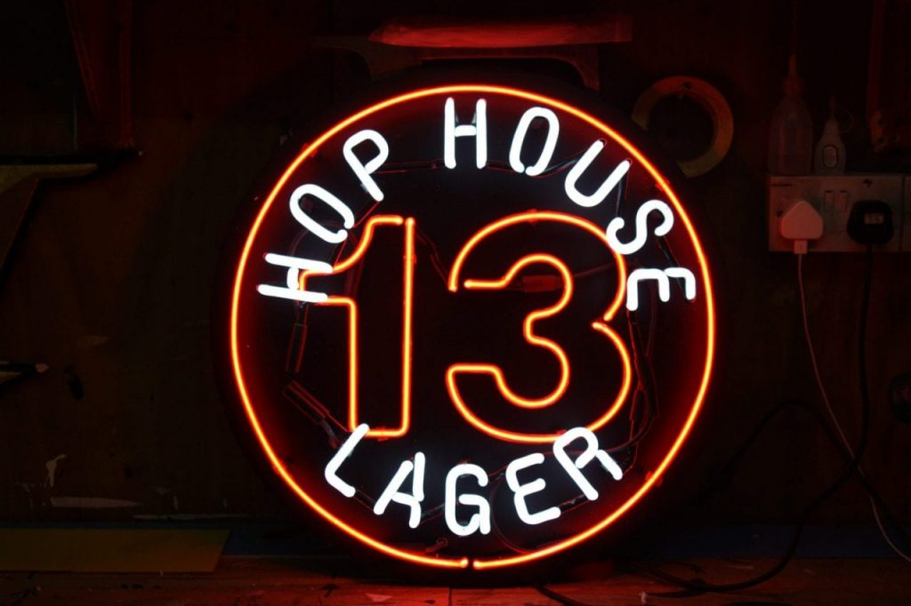 hophouse13 neon logo