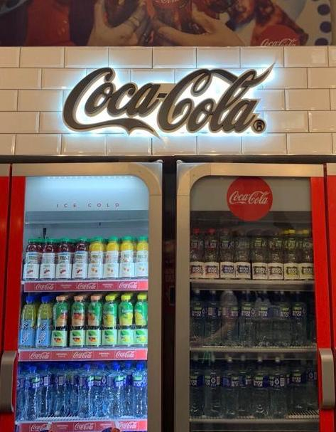 Coca Cola Sign Light up Gold with white LED