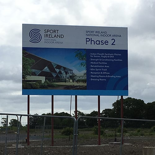 Building site signage - Wide Format Print for outdoor usage.