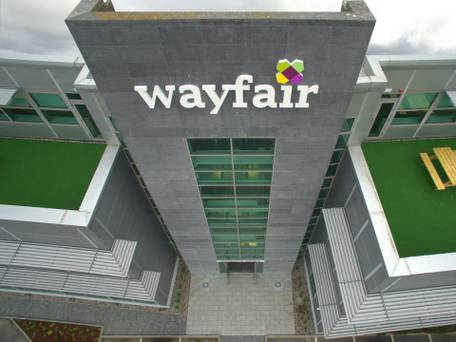Wayfair signage for outside the building made by Elite Branding Dublin