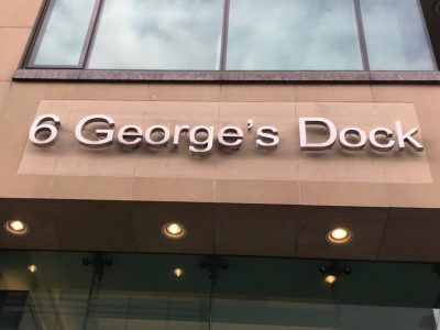 6 Georges Dock Sign