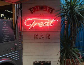 Baileys Treat Bar sign made by elite branding
