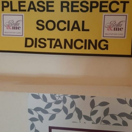 Customized social distancing signage