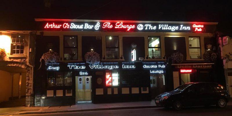 The Village Inn Pub Signage Light Up Design for Front of Building