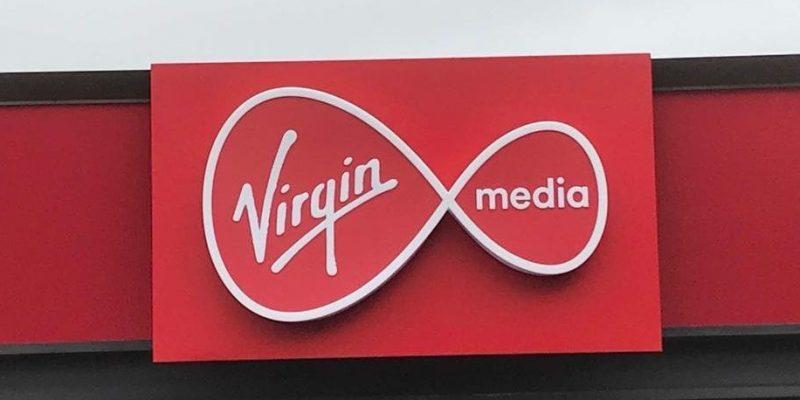 Virgin Media Logo Signage for Head Office made by Elite Branding Dublin