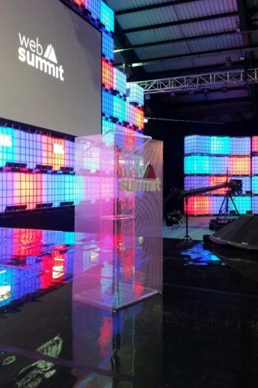 gallery International Web Summit branding and signage