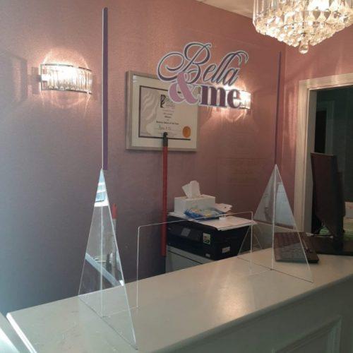salon reception screen guard